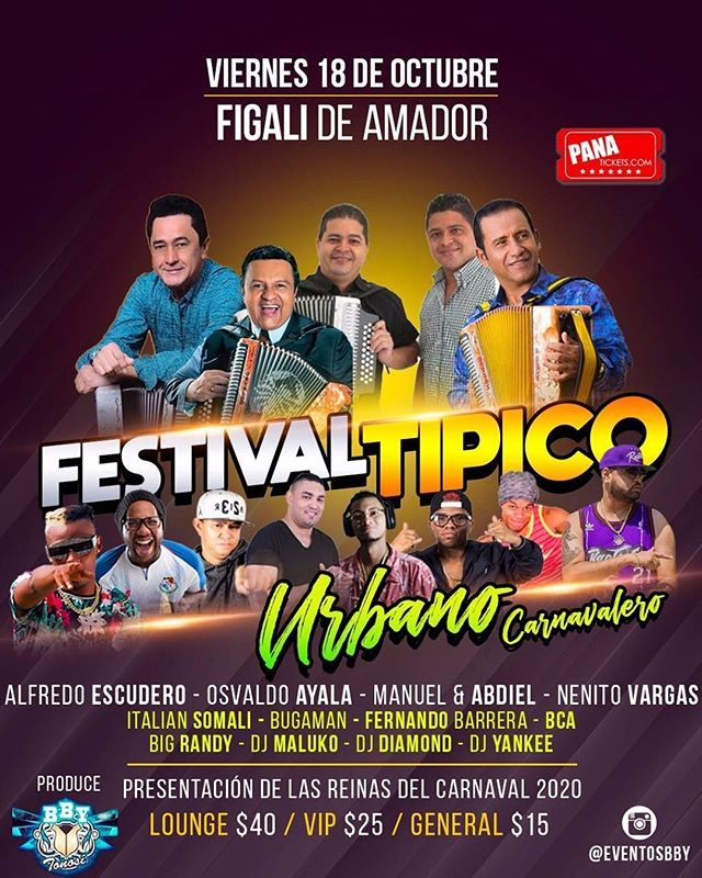 Festival Típico Urbano y Carnavalero @ Centro de Convenciones Amador