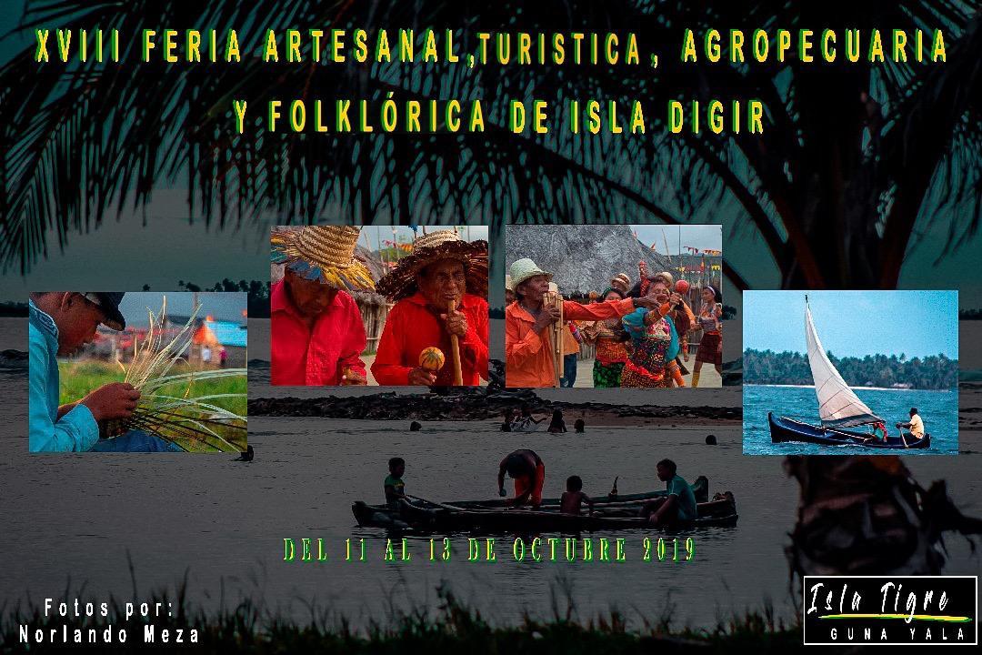 XVIII Feria Artesanal, Turistica, Agropecuaria y Folklórica de Isla DIGIR @ Isla Tigre, Guna Yala