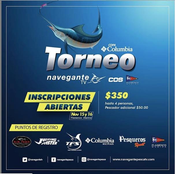 EXPO - FishingTorneo COS Navegante TV @ Navegante Tv , COS Isla Flamenco