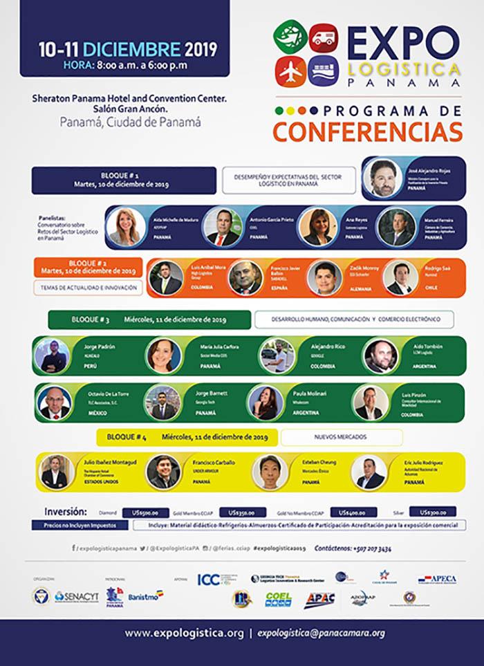 Ciclo de Conferencias de EXPO LOGÍSTICA PANAMÁ 2019 @ Sheraton Grand Panama