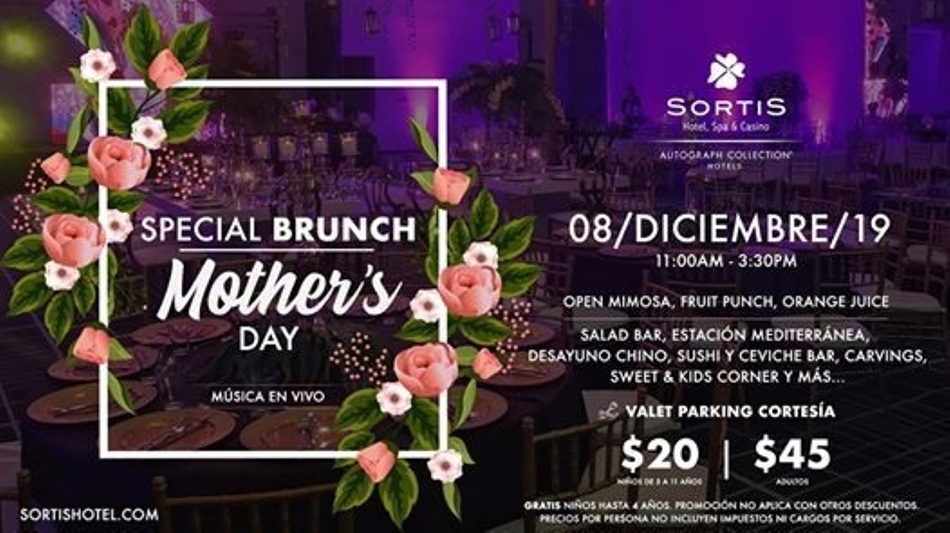 Special Brunch Mother´s Day @ Sortis Hotel, Spa & Casino