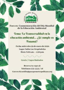 Foro en conmemoración del día mundial de la Educación Ambiental @ Salón las Oropendulas